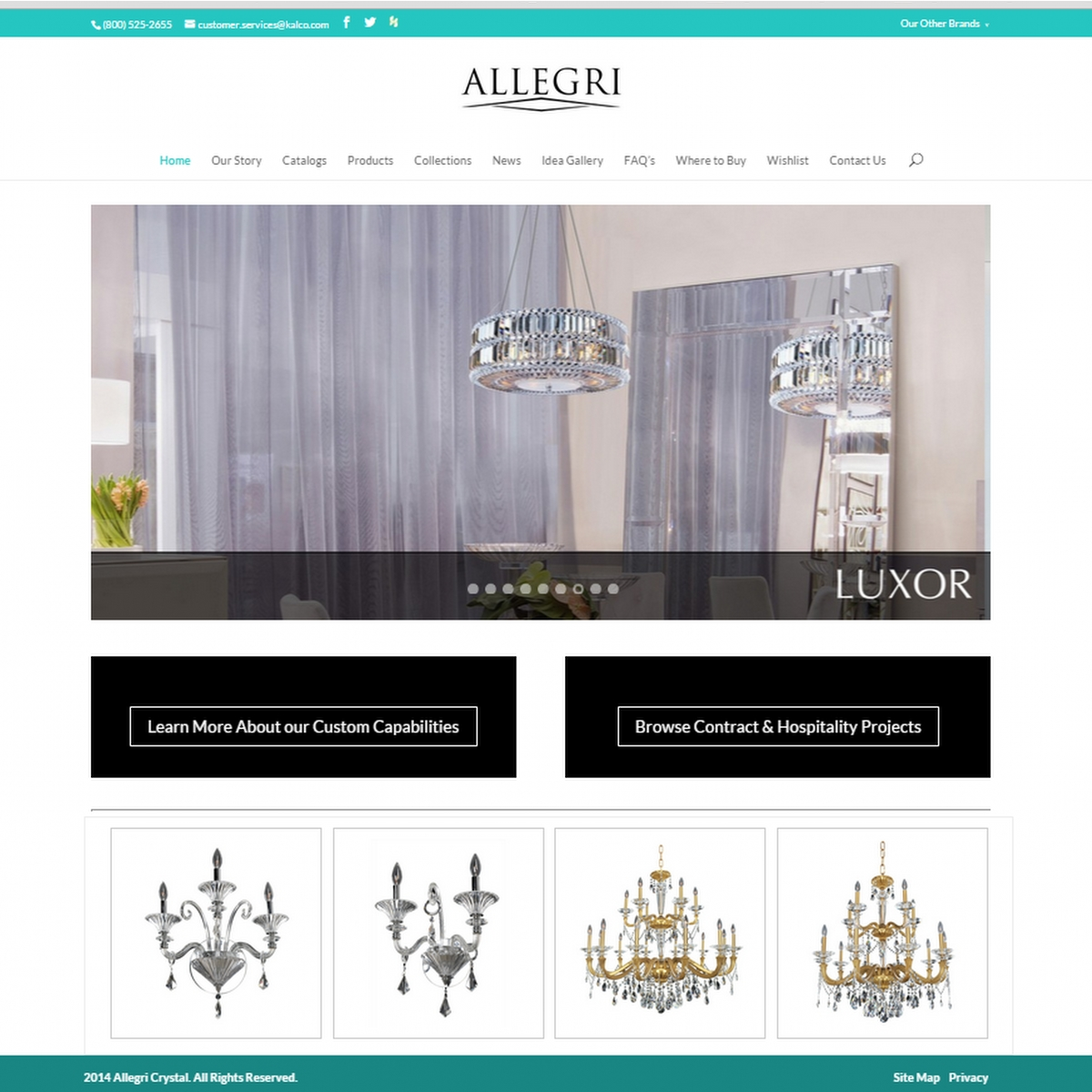 Allegri CrystalWebsite Design & Development