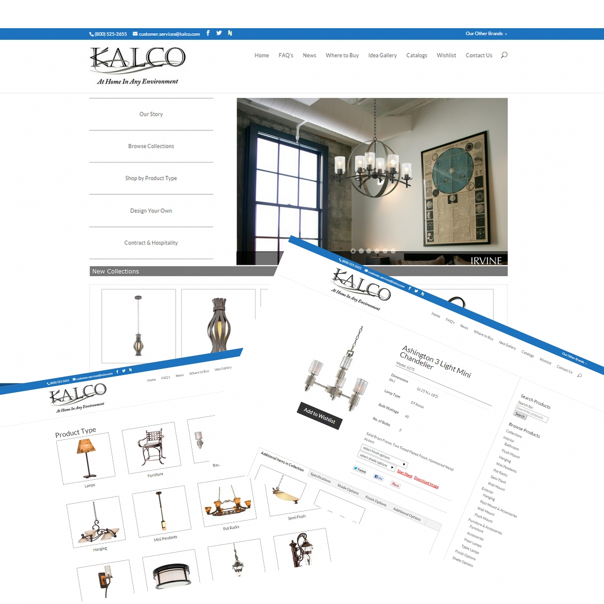 Kalco LightingWebsite Design & Development